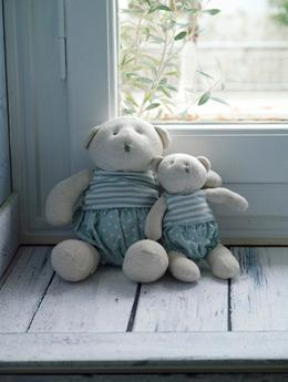 Αρκούδάκια με ριγέ πουά μπλουζάκι