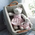 Αρκουδάκια με ροζ ριγέ πουά μπλουζάκι