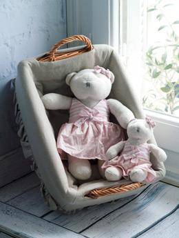 Αρκούδάκια με ροζ ριγέ πουά μπλουζάκι