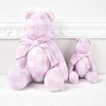 Αρκούδοι υφασμάτινοι καρό ροζ