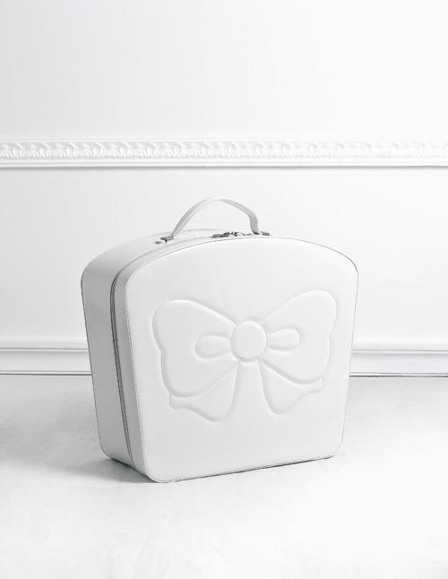 Καπελιέρα λευκή με φιόγκο