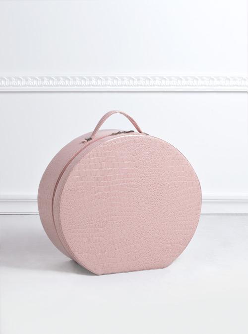 Καπελιέρα ροζ κροκό