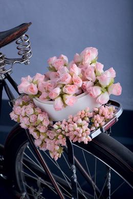 Λουλουδάκι υφασμάτινο ροζ