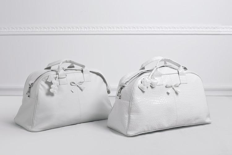 Τσάντες λευκές οβάλ