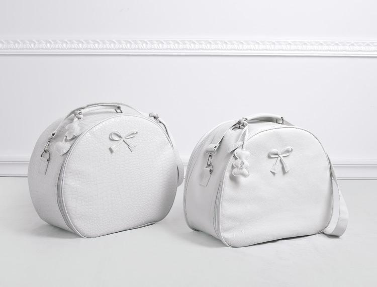 Τσάντες λευκές στρογγυλές - είδη βάπτισης  0b93e69686c