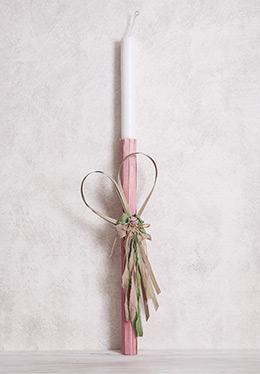 Λαμπάδα-με-ροζ-γκρι-και-πράσινα-sticks