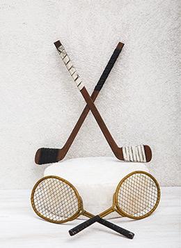 Μπαστούνι-του-χόκεϊ-και-διακοσμητικές-ρακέτες
