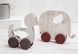 Ξύλινο-παπάκι-και-ελεφαντάκι