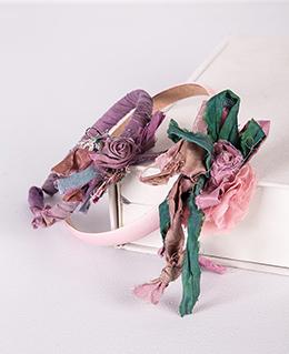 Στέκες μωβ και ροζ-πράσινη