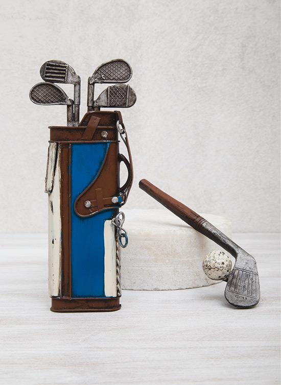 Τσάντα και μπαστούνι του γκολφ