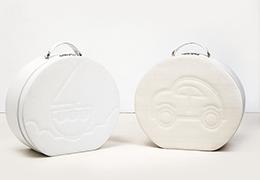 Καπελιέρα λευκή με κέντημα καραβάκι και αυτοκινητάκι1