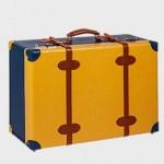 Βαλίτσα ταξιδίου κίτρινη-μπλε-ταμπά